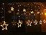 Cascata Sequencial de Estrelas 138 LEDS com 8 Funções Branco Quente 127v M/F - Imagem 3