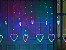 Cascata Sequencial de Corações 138 LEDS com 8 Funções colorida 110V - Imagem 2
