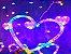Cascata Sequencial de Corações 138 LEDS com 8 Funções colorida 110V - Imagem 3