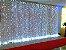 Cortina de LED Fixo 500 LEDs Fio Transparente 3x2,5 metros Branco Frio 127V - Imagem 2