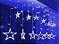 Cascata Sequencial de Estrelas 138 LEDS com 8 Funções Azul 127v M/F - Imagem 2