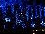 Cascata Sequencial de Estrelas 138 LEDS com 8 Funções Azul 127v M/F - Imagem 3