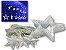 Cascata Sequencial de Estrelas 138 LEDS com 8 Funções Azul 127v M/F - Imagem 1