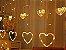 Cascata Sequencial de Corações 138 LEDS com 8 Funções Branco Morno 220V - Imagem 3