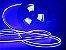 Mangueira Neon de LED Dupla 5 Metros Azul 12V - Imagem 2