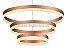 PENDENTE 40×60×80CM ACRILICO DOURADO 110W LED BIVOLT - Imagem 2