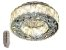 PLAFON REDONDO 35CM CRISTAL LED 28W DOURADO 3000K 4000K 6000K CONTROLE BIVOLT - Imagem 1