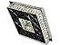 PLAFON QUADRADO 35CM CRISTAL LED 32W 3000K BIVOLT - Imagem 2