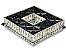 PLAFON QUADRADO 35CM CRISTAL LED 32W 3000K BIVOLT - Imagem 4