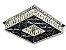 PLAFON QUADRADO 35CM CRISTAL LED 32W 3000K BIVOLT - Imagem 1