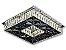 PLAFON QUADRADO 35CM CRISTAL LED 24W 3000K BIVOLT - Imagem 1