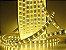 Mangueira chata dupla LED 12,5W/M Branco Quente com silicone por metro 127V - Imagem 1