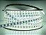 Mangueira chata dupla LED 12,5W/M Branco Frio com silicone por metro 127V - Imagem 1