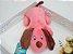Brinquedo Pet Pelúcia Doguinho Rosa - Imagem 1