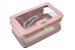 Kit 3 necessaires transparente/ salmão personalizadas - Imagem 4