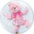 "BUBBLE BABY GIRL 22"" QUALATEX - Imagem 1"