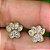 Brinco com Zircônia de Patinha - Banhado à ouro 18k - Imagem 2
