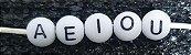 Entremeio Passante bolinha Colorido com Letras Pretas Ou Branco com letras pretas  (Tamanho 7 mm) *Pacote com 90 gramas* - Imagem 3