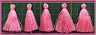 PomPom Pingente - 4cm - Cores:  Verde piscina, Palha, Laranja, Vinho, Rosa, Azul, Branco ou Goiaba - (Pacote com 5 Unidades) - Imagem 8