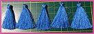 PomPom Pingente - 4cm - Cores:  Verde piscina, Palha, Laranja, Vinho, Rosa, Azul, Branco ou Goiaba - (Pacote com 5 Unidades) - Imagem 5