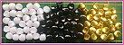Entremeio Achatado - tamanho 10mm - Branco, Preto ou Dourado (Pacote com 50 unidades) - Imagem 1