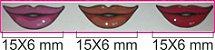 Boca Resinada Autocolante - *Cartela com 27 boquinhas resinadas* Tamanho: 15X6 mm - Imagem 2