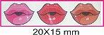Boca Resinada Autocolante - *Cartela com 21 boquinhas resinadas* Tamanho: 20X15 mm - Imagem 2