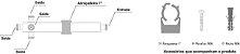DIVISOR SPLITTER 1:4 700-2700MHZ -140DBC IP65 VHT - Imagem 4