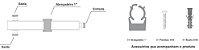 DIVISOR SPLITTER 1:2 700-2700MHZ -140DBC IP65 VHT - Imagem 3