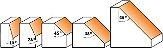 FRESA DE WIDEA PARA CHANFRO 45º 31,7X9,5MM CMT 73628011 - Imagem 2