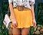 Shorts Saia Jeanseria Mostarda - liocel - Imagem 2