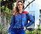 Camisa Feminina Jeanseria com Renda Jeans - Imagem 1