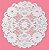 Toalha Rendada Cartela Branco Mod.252 Mago c/ 24 unid - Imagem 1