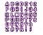 Molde Letras e Números 40 Peças Yazi - Imagem 1