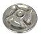 Petisqueira Inox 5 Compartimentos Yazi 35x6cm  - Imagem 1