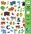 160 Adesivos Infantis  - Animais - Imagem 1