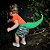Fantasia Infantil - Cauda Dinossauro Verde Laranja - Imagem 10