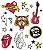 Tatuagem temporária - Rock and Roll - Imagem 1