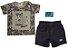 Camiseta Masculina Meia Malha c/ Shorts Jeans - Imagem 2