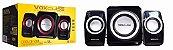 Caixa de Som Bluetooth 18 USB SD Pen Drive Preta VC-500BT Exbom - Imagem 2