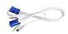 Cabo KVM 4 em 1 GTS Network 1 Metro VGA USB P2 Certificado - Imagem 1