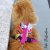 Peitoral Cat.Walker Bigodiva tamanho P Queima de Estoque Roxo e Amarelo - Imagem 4