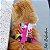Peitoral Cat.Walker Bigodiva tamanho P Jeans com Rosa - Imagem 7