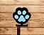 Porta coleira patinhas | Relevo 3D | Azul - Imagem 2