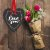 Placa Grande TAG MDF Decorativa | Formato de Coração | Love You - Imagem 2