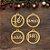 TAG | 4 Bolinhas de Natal em MDF | NATAL  - Imagem 1