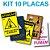 KIT COM 10 PLACAS DECORATIVAS - Imagem 1