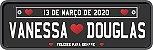 Placas Em Pvc Personalizadas P/ Carro - Transbike - Casamento - Empresa - Maternidade - Diversos - Imagem 3