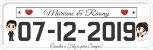 Placa Em Pvc Personalizadas P/ Carro  - Casamento - Imagem 6