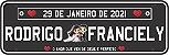 Placa Em Pvc Personalizadas P/ Carro  - Casamento - Imagem 2